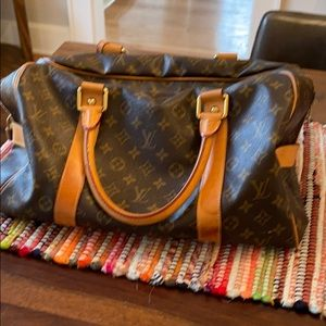 Louis Vuitton monogram overnight bag
